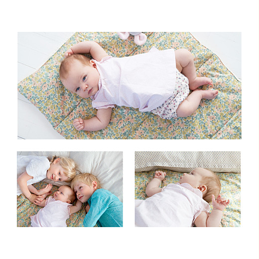 Faire-part de naissance Élégant 4 photos blanc - Page 2