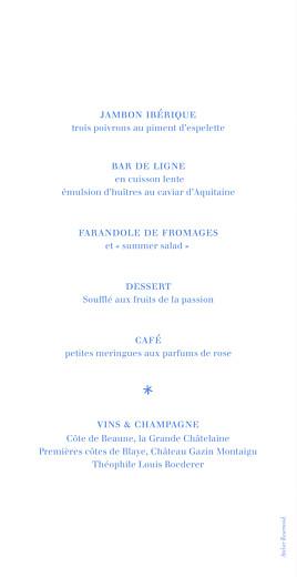 Menu de mariage Carré contemporain bleu - Page 2