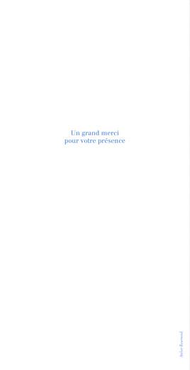 Menu de mariage Carré contemporain (4 pages) bleu - Page 4
