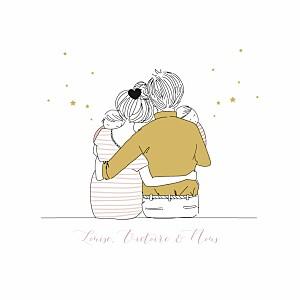 Bien-aimée Faire-part de naissance Étoile à personnaliser - par l'Atelier &EN_62