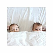 Faire-part de naissance Lovely family twins (triptyque) fille et garcon page 4
