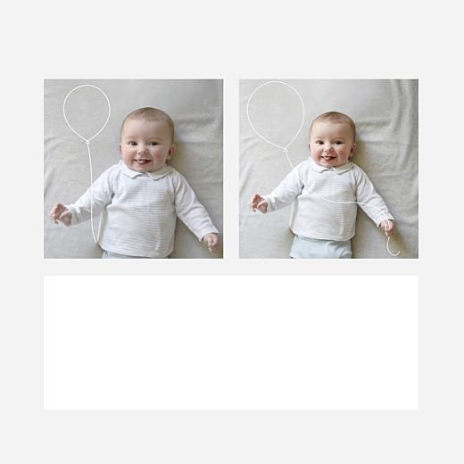 Faire-part de naissance Mon petit ballon blanc - Vue 2