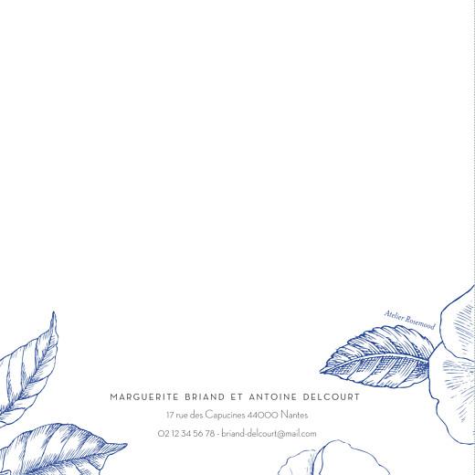Faire-part de mariage Gravure chic bleu - Page 4