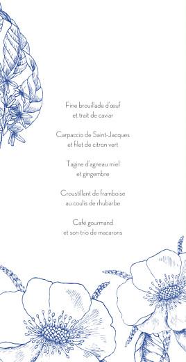 Menu de mariage Gravure chic (4 pages) bleu - Page 3
