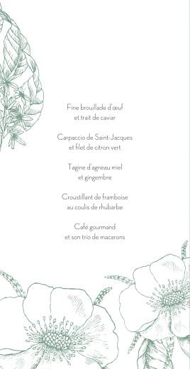 Menu de mariage Gravure chic (4 pages) vert - Page 3