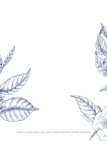 Livret de messe mariage Gravure chic bleu - Page 4