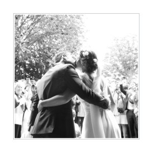 Carte de remerciement mariage Gravure chic vert
