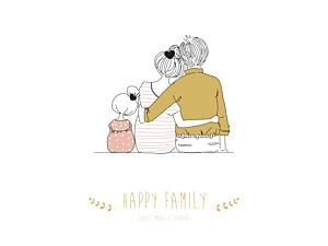Affichette Lovely family fille
