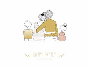 Affiche Lovely family 2 enfants fille