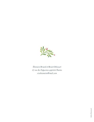 Faire-part de mariage Murmure de forêt (portrait) vert