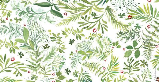 Faire-part de mariage Murmure de forêt (panoramique) vert