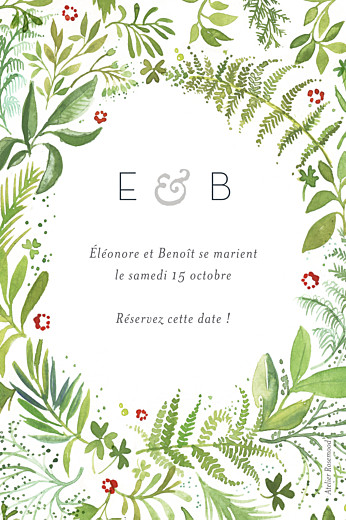 Save the Date Murmure de forêt vert - Page 2