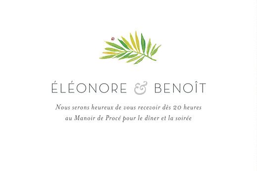 Carton d'invitation mariage Murmure de forêt vert