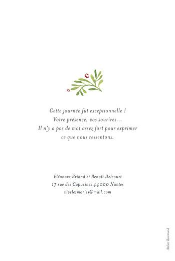 Carte de remerciement mariage Murmure de forêt vert - Page 2