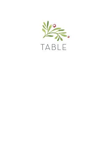 Marque-table mariage Murmure de forêt vert