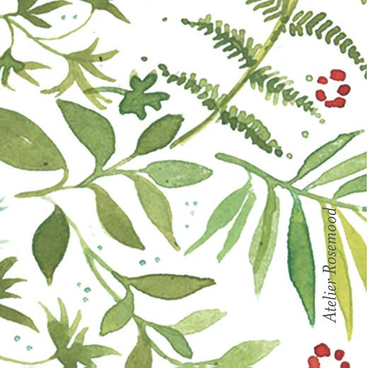 Etiquette de mariage Murmure de forêt vert