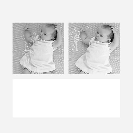 Faire-part de naissance Mon petit doudou lapin blanc - Vue 2