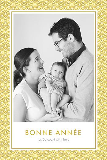 Carte de voeux Pattern 2 photos jaune