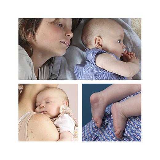 Faire-part de naissance Écossais 4 photos bleu ciel - Page 2
