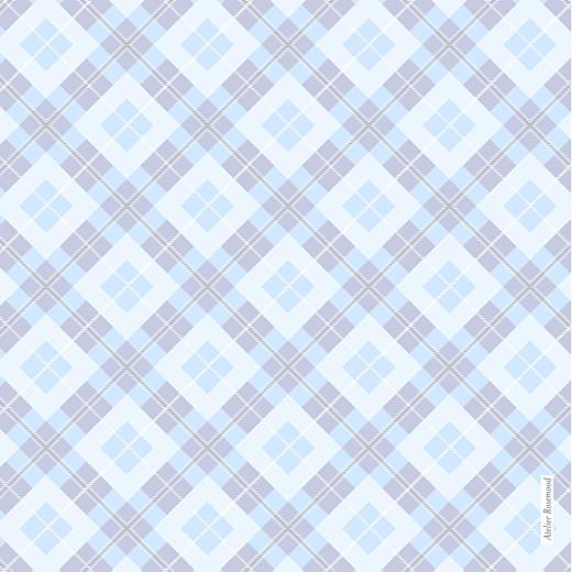 Faire-part de naissance Écossais 4 photos bleu ciel - Page 4