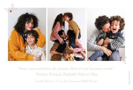 Carte de voeux Douce année 4 photos blanc - Page 2