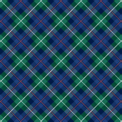 Carte de remerciement Petit écossais bleu & vert - Page 2