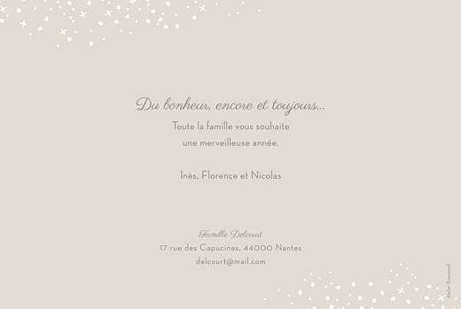 Carte de voeux Neige chic (dorure) beige - Page 2