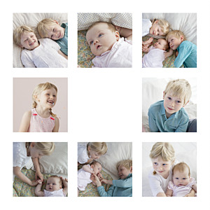 Carte de voeux dorure simple 8 photos (dorure) blanc