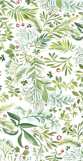Menu de mariage Murmure de forêt vert