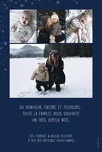 Carte de voeux Mille flocons de noël 5 photos bleu
