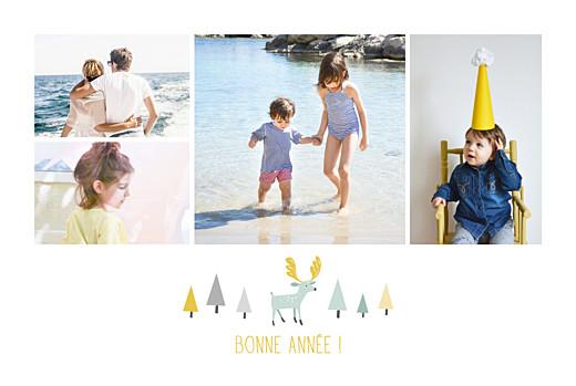 Carte de voeux Renne scandinave 4 photos blanc