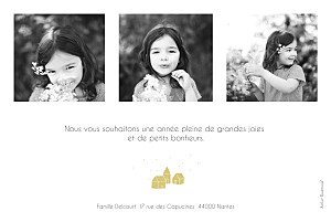 Carte de voeux Mon petit refuge 3 photos jaune