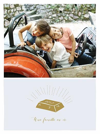 Affichette Une famille en or bleu - Page 1