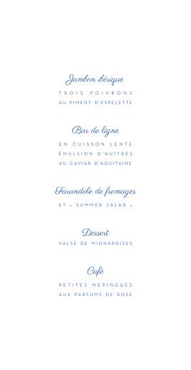 Menu de mariage Justifié contemporain bleu - Page 3