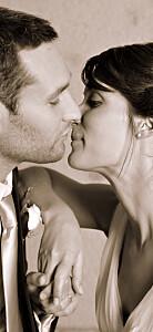 Etiquette de mariage avec photo moderne photo (portrait) blanc