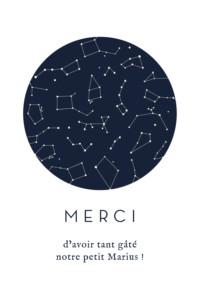 Carte de remerciement Ma petite étoile blanc