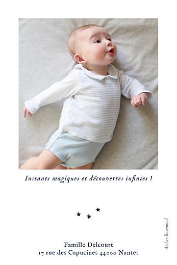 Carte de remerciement Ma petite étoile blanc - Page 2