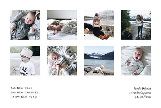 Carte de voeux 8 photos blanc