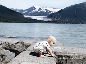Affichette Plein la vue paysage blanc