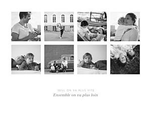 Affichette Souvenir 8 photos paysage blanc