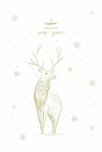 Carte de voeux Cerf photo blanc