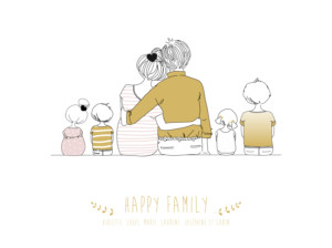 Affiche Lovely family 4 enfants mixte