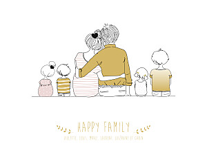 Affiche Lovely family 4 enfants mixte