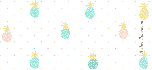 Etiquette de baptême Ananas vert - Page 2