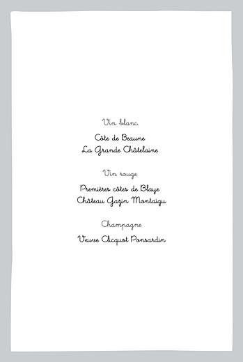 Menu de baptême Dandy (4 pages) gris