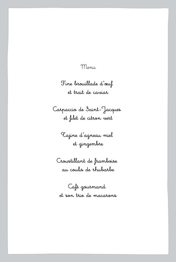 Menu de baptême Dandy (4 pages) gris - Page 3