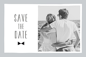 Save the date gris dandy gris