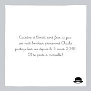Faire-part de naissance Petit dandy (triptyque) gris page 2