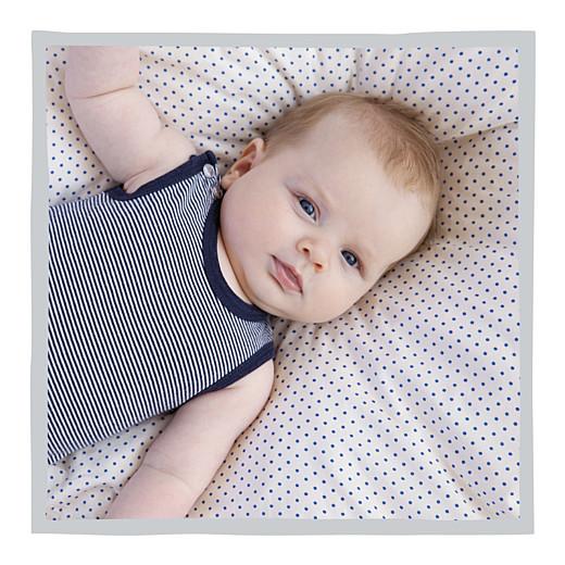 Faire-part de naissance Petit dandy (triptyque) gris
