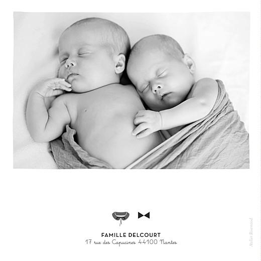 Faire-part de naissance Dandy & coquette (4 pages) gris - Page 4